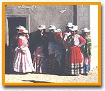Tucare, Peru - Women dressed for holiday.